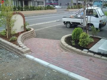 八戸U様 ガーデン、エクステリア工事完成
