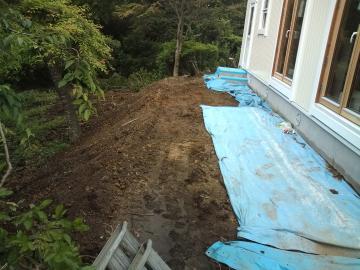 階上町S様邸エクステリア工事始まりました。