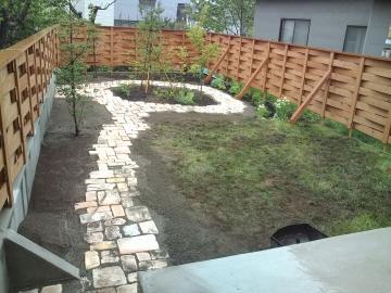 野辺地U様邸ガーデン工事