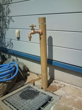 バンブーな立水栓 八戸H様邸ガーデンリフォーム