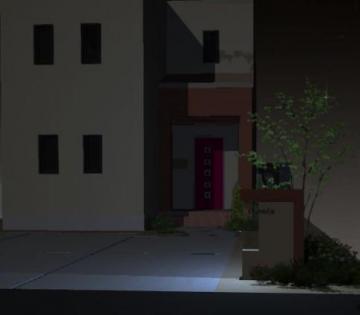 ジュエルグラスが輝く門柱 八戸市О様邸