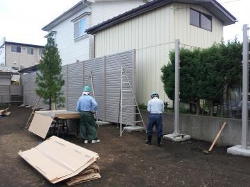 高いフェンス 八戸市 M様邸