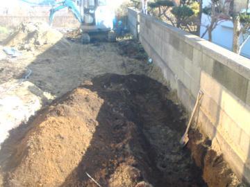 八戸市Y様邸排水工事です。