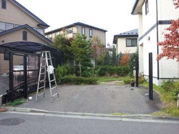 ガーデンリファーム工事 八戸T邸 始まりました。